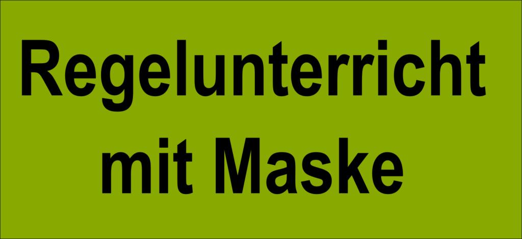 Regelunterricht mit Maske